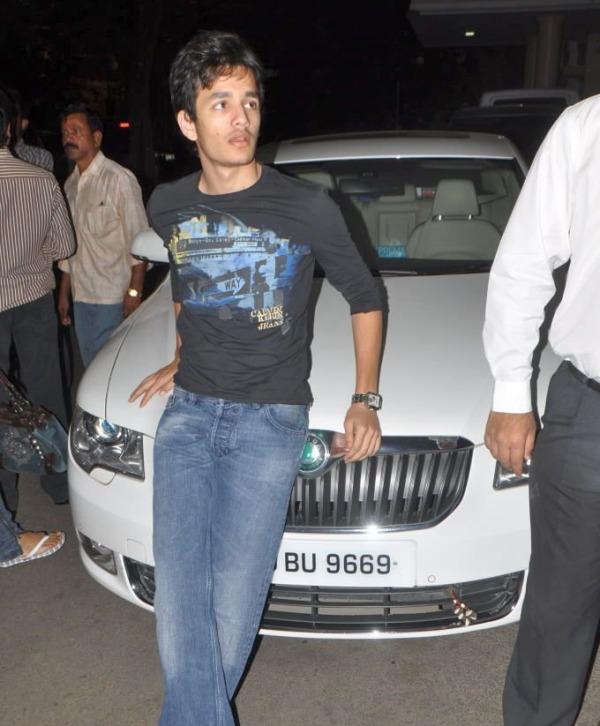 Akhil Akkineni with his Skoda Superb