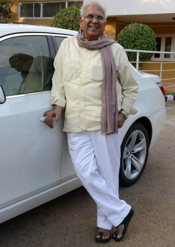 Akkineni Nageswara Rao with his BMW 5-Series