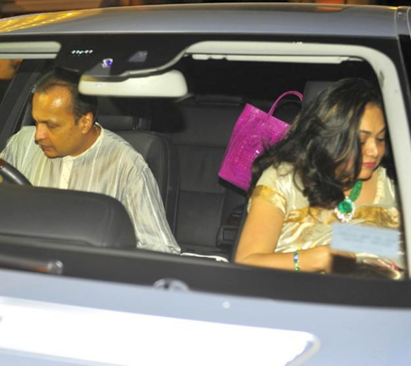 Anil Ambani and Tina Ambani in the W221 Mercedes Benz S-Class