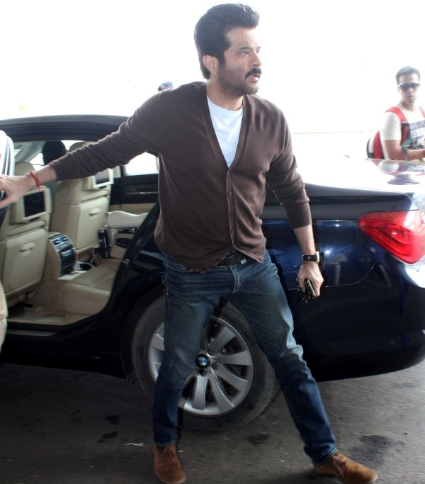 Anil Kapoor with his BMW 7-Series Luxury Saloon