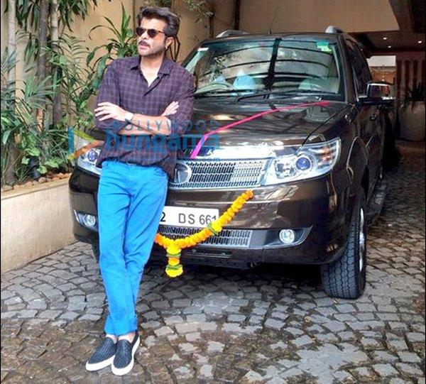Anil Kapoor with his Tata Safari Storme SUV