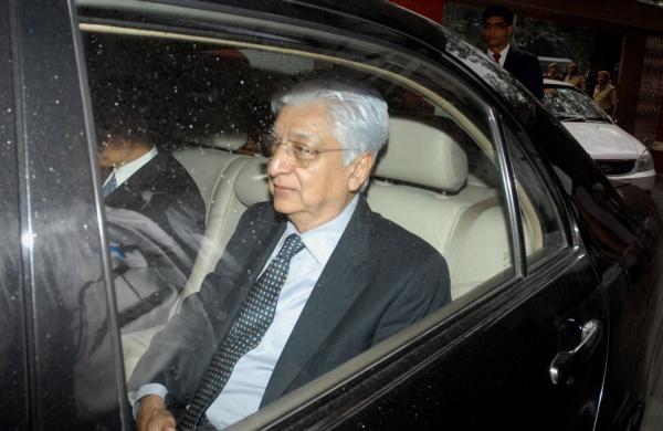 Azim Premji in his pre owned Mercedes Benz E-Class