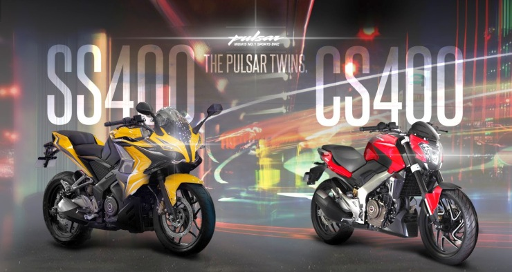 Bajaj Pulsar SS400 and CS400