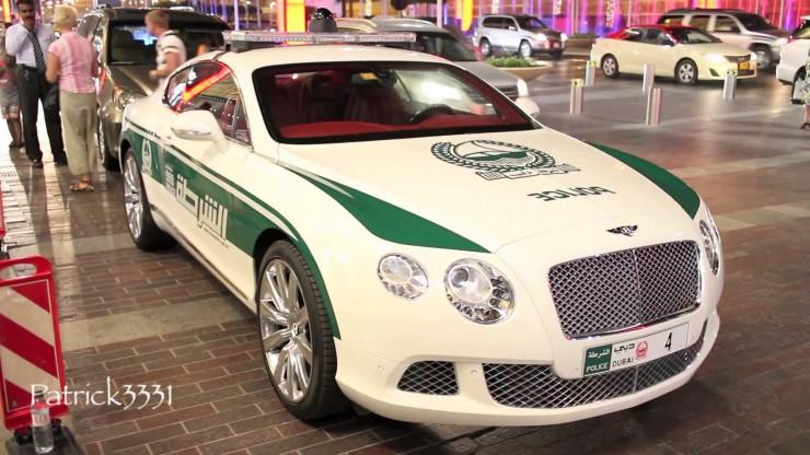Bentley Continental GT of the Dubai Police