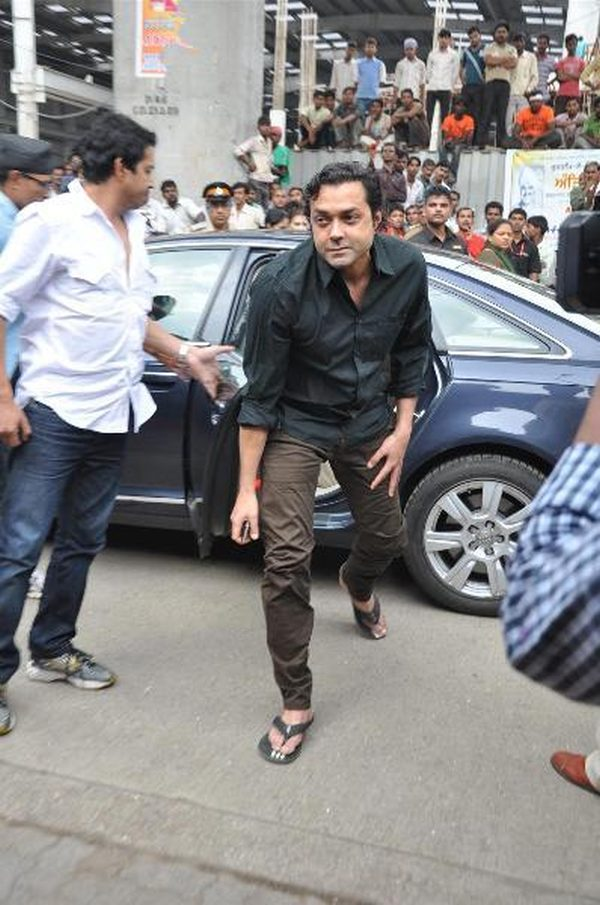 Bobby Deol with Sunny Deol's Audi A8