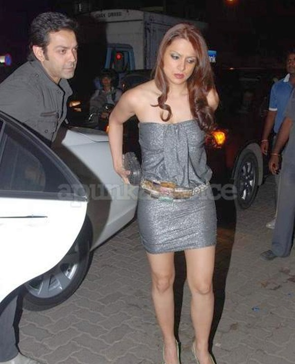 Bobby Deol with his Mercedes Benz S-Class 550