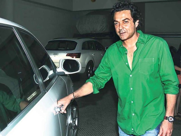 Bobby Deol with his Porsche Cayenne
