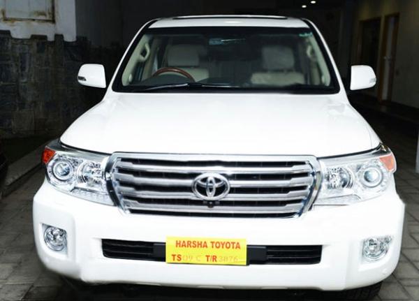 Chiranjeevi's New Toyota Land Cruiser