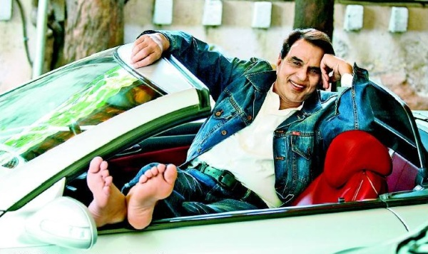 Dharmendra with his Mercedes Benz SL500