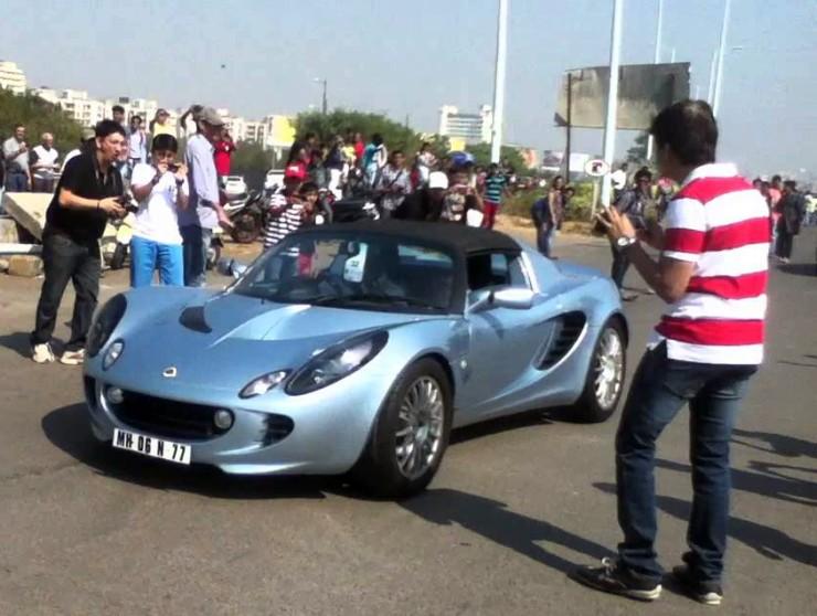 Gautam Singhania in his Lotus Elise