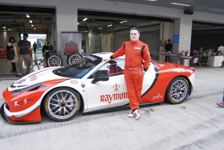 Gautam Singhania with his Ferrari 458 Challenge Stradale