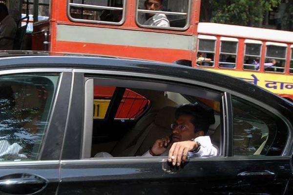 Lalit Modi in his BMW 7-Series luxury saloon 2
