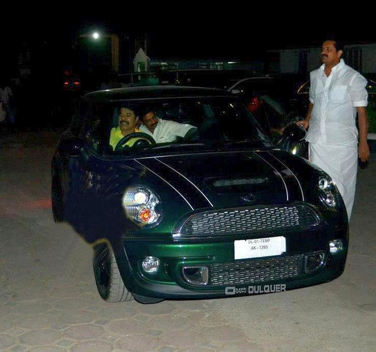 Mammootty in his Mini Cooper S