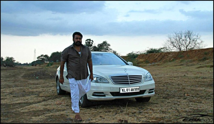 Mohan Lal with his W221 Mercedes Benz S-Class