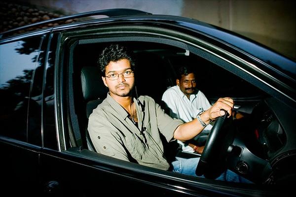 Movie Star Vijay in his BMW X5