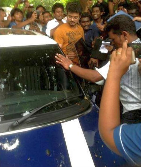 Movie Star Vijay with his Mini Cooper