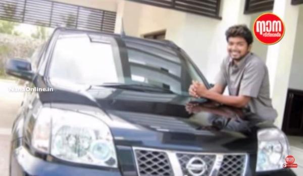 Movie Star Vijay with his Nissan Patrol SUV