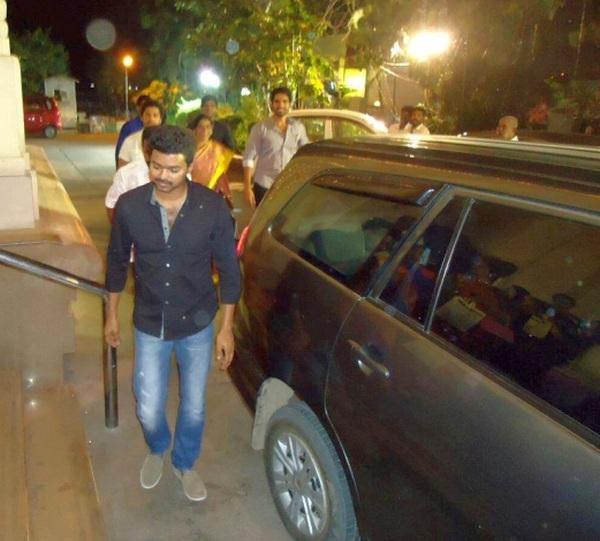 Movie Star Vijay with his Toyota Innova
