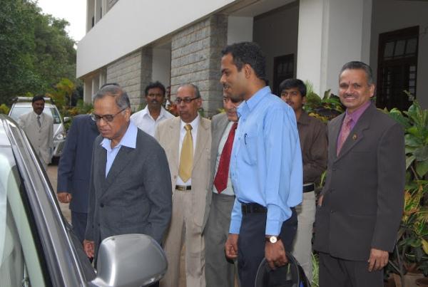 NR Narayana Murthy with his Skoda Laura