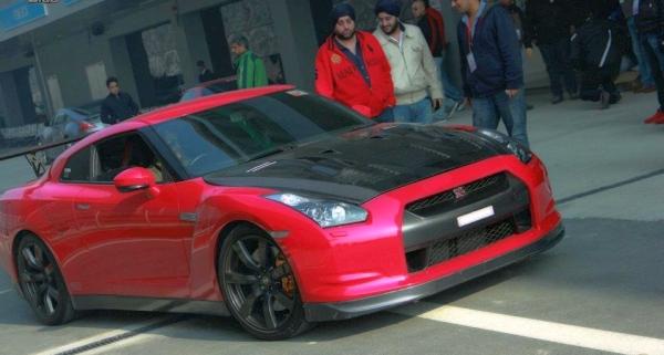 Nag Chaitanya in his Nissan GT-R