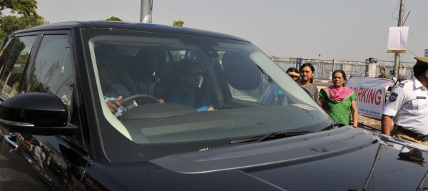 Naga Chaitanya with his Range Rover Autobiiography