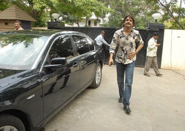 Nagarjuna with his BMW 7-Series