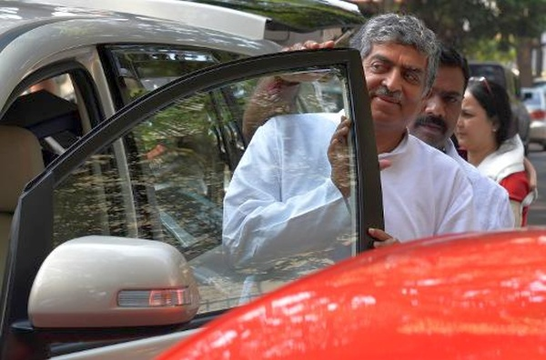 Nandan Nilekani with his Toyota Innova