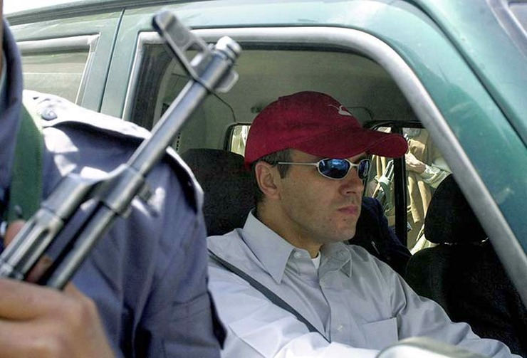 Omar Abdullah in his Range Rover SUV