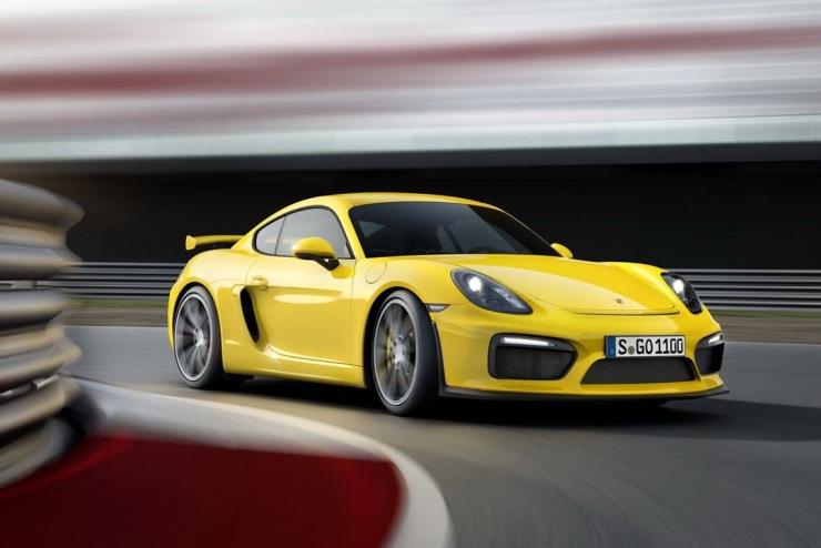 Porsche on the track