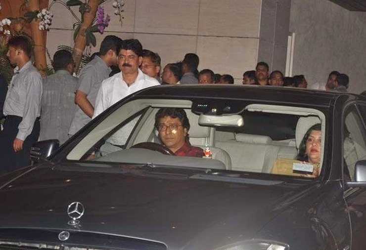 Raj Thackeray in his Mercedes Benz S-Class