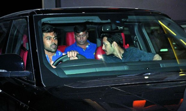 Ram Charan Teja in his Range Rover Autobiography