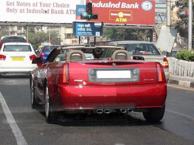 Ratan Tata in his Cadillar XLR 2