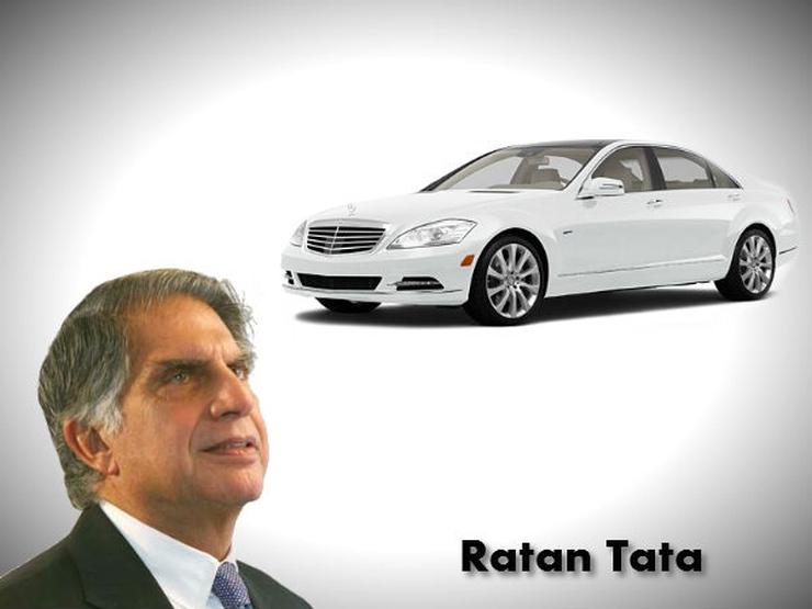 Ratan Tata with his Mercedes Benz S-Class