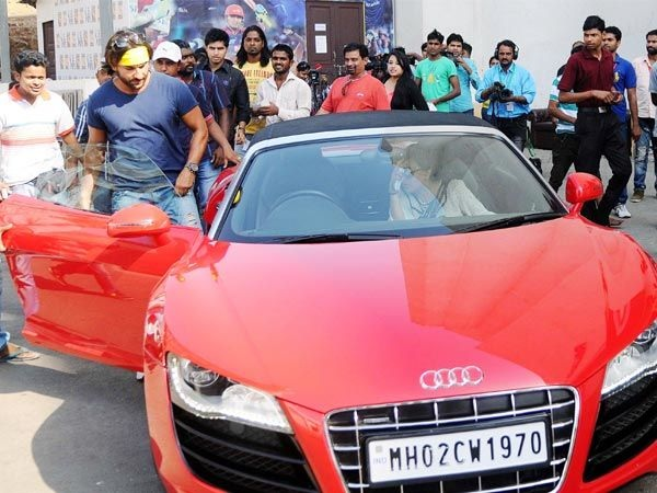 Saif Ali Khan in his Audi R8 Spyder