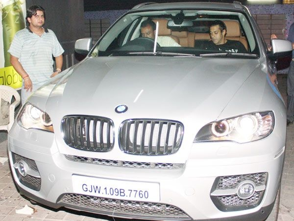 Salman Khan in his BMW X5