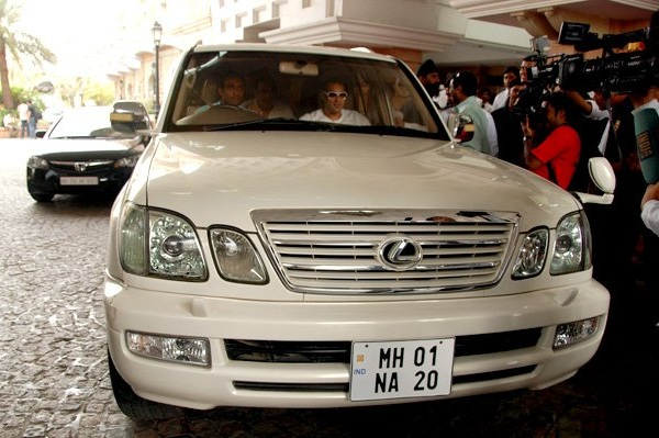 Salman Khan in his Lexus LX470