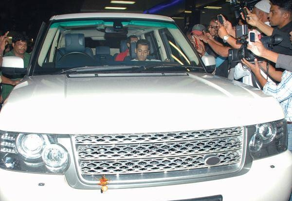 Salman Khan in his Range Rover Vogue