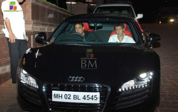 Sanjay Dutt with his Audi R8