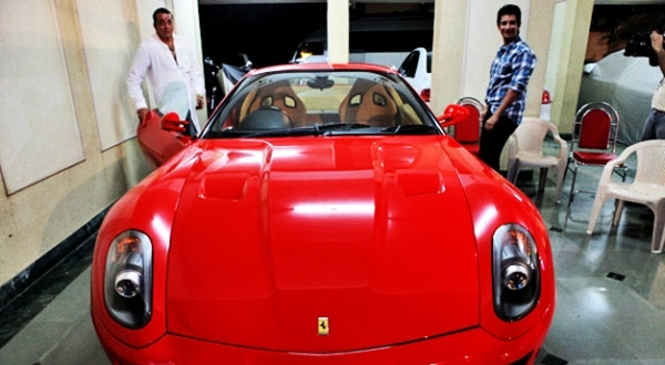 Sanjay Dutt with his Ferrari 599