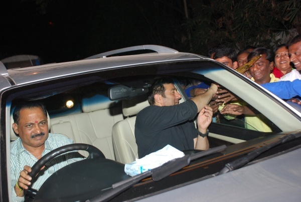Sunny Deol in Brother Bobby Deol's Porsche Cayenne