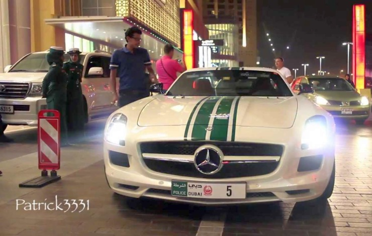 The Mercedes Benz SLS-AMG of the Dubai Police