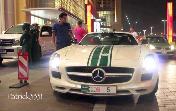 The Mercedes Benz SLS-AMG of the Dubai Police