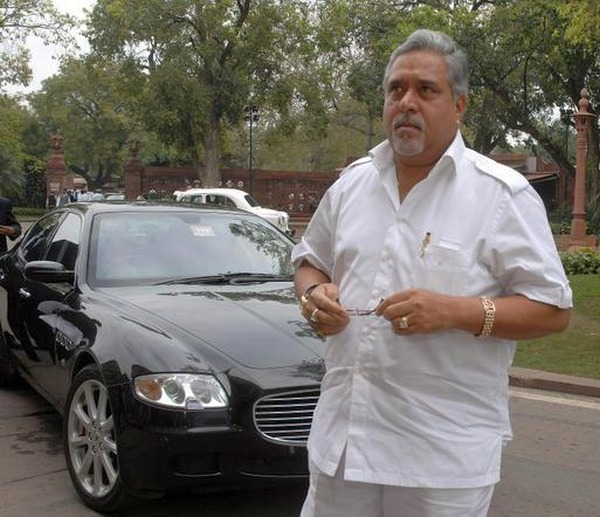 Vijay Mallya with his Maserati Quattroporte
