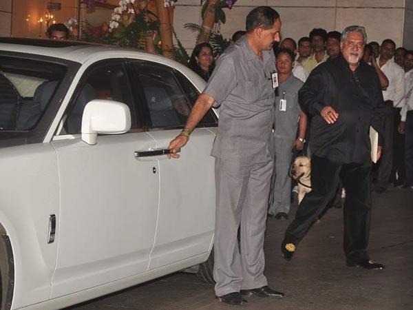 Vijay Mallya with his Rolls Royce Ghost