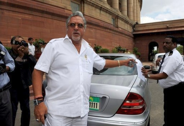 Vijay Mallya with his W220 Mercedes Benz S-Class