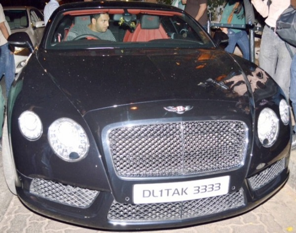 Yuvraj Singh in his Bentley Continental Flying Spur