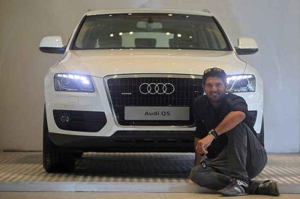 Yuvraj Singh with his Audi Q5 Luxury SUV