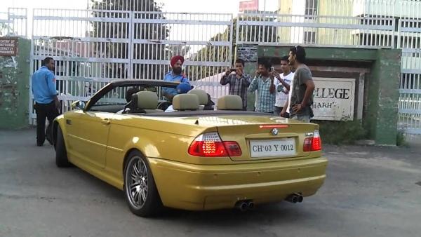 Yuvraj Singh with his E93 BMW M3