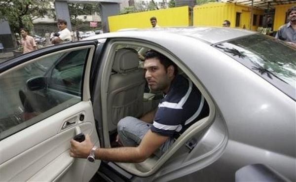 Yuvraj Singh with his F10 BMW 5-Series
