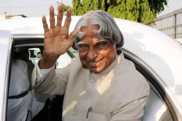 Abdul Kalam with the Hindustan Ambassador